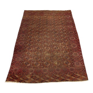 1900s Distressed Antique Bokhara Rug-6′8″ × 9′ For Sale