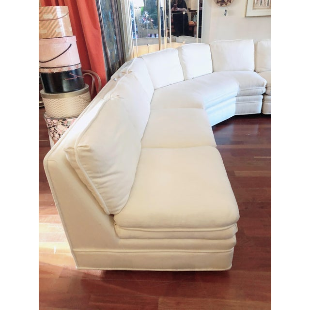 Modern Vintage 1984 White Sherrill Sectional Sofa For Sale - Image 3 of 11