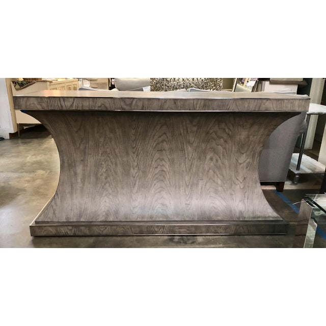 Contemporary Gray Finish Console Table For Sale In Charlotte - Image 6 of 6