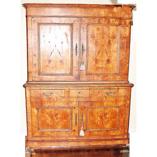 19th Century French Linen Press Armoire Preview