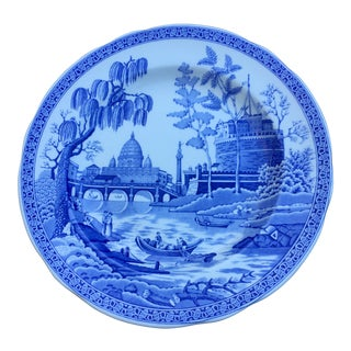 1900s Chinoiserie Spode Georgian Series Rome Plate For Sale