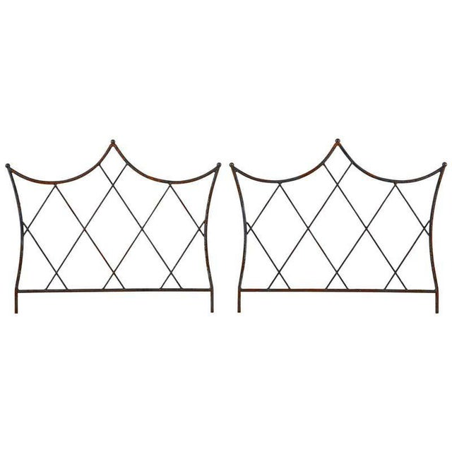 Pair of Regency Style Iron and Bronze Headboards For Sale - Image 13 of 13