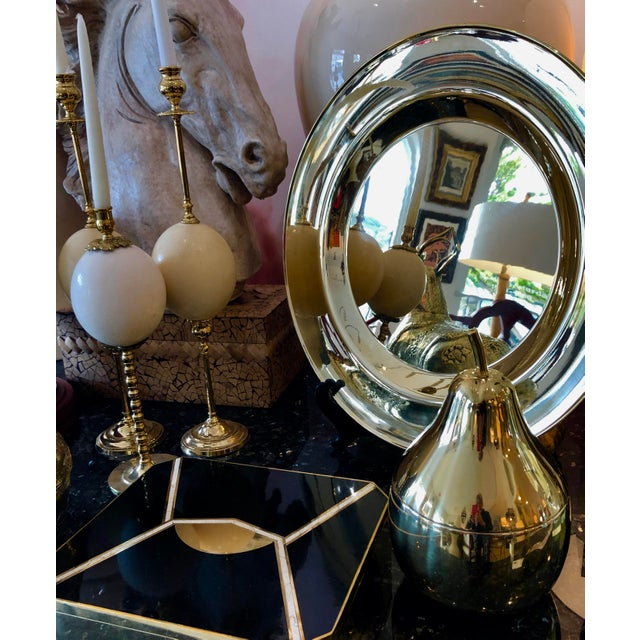 Gold Mid Century Brass Pear Ice Bucket C.1970, France For Sale - Image 8 of 9