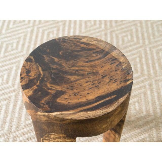 Wila Mango Wood Stool For Sale - Image 4 of 5