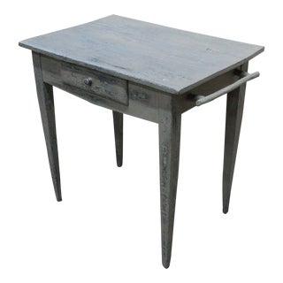 19th Century French Country Work Table in Old Paint
