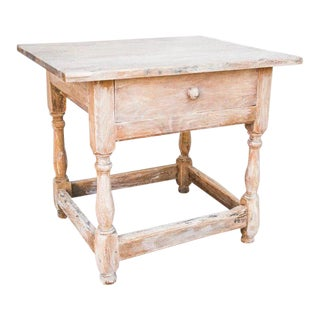 19th Century French Country Limed Side Table