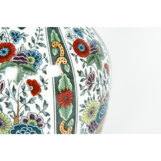 Vintage Porcelain Dutch Vases - a Pair For Sale - Image 4 of 13