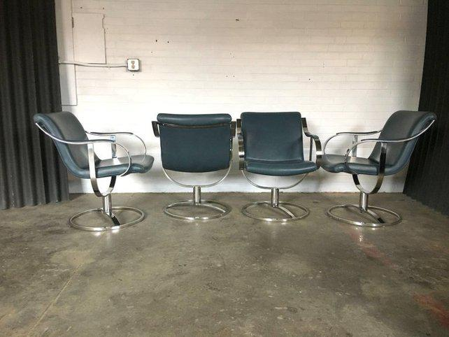 Gardner Leaver For Steelcase Swivel Lounge Chairs   Set Of 4 For Sale    Image 6