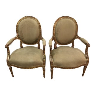 Vintage French Chairs - A Pair
