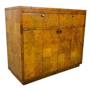 Bernhardt Burl Wood Bar Cabinet For Sale