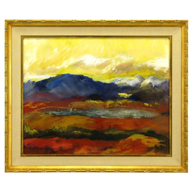 Expressionist Landscape Oil Painting by Barbara Leadabrand, American,(1922-1994) For Sale