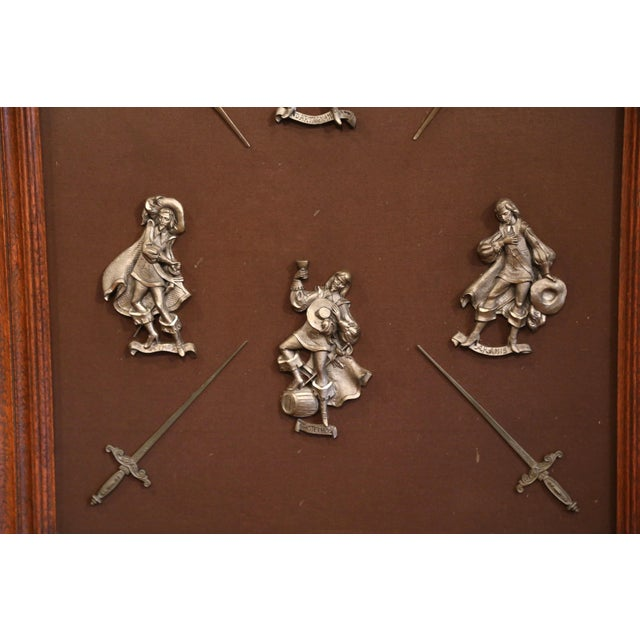 Complete your game room or den with this wall hanging frame from France; crafted circa 1890, the decorative piece displays...