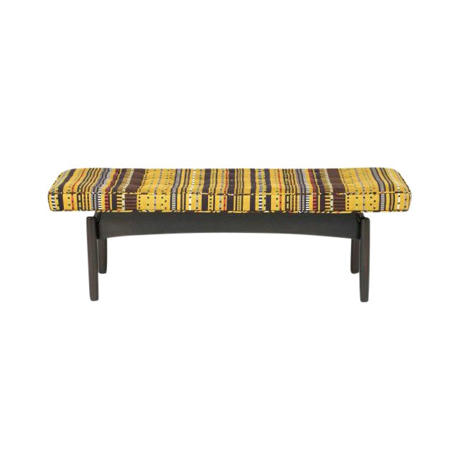 Vintage Jens Risom Style Bench For