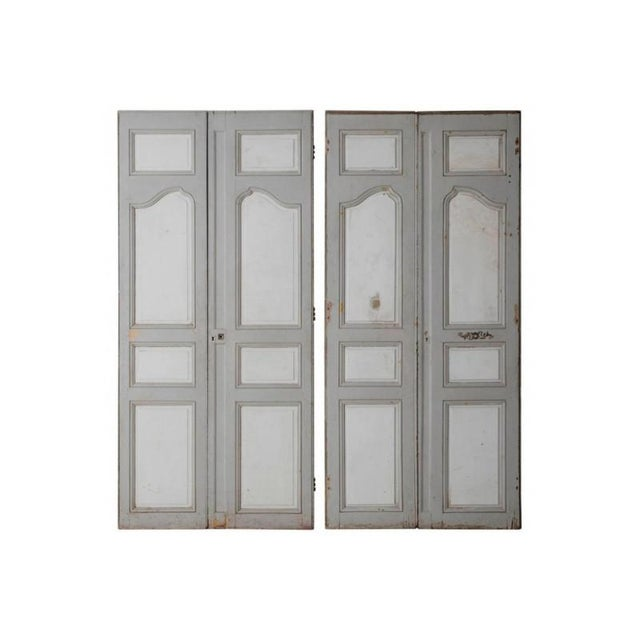 18th and 19th Century French Pair of Louis XV Double Doors in Original Paint For Sale - Image 12 of 12