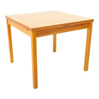 Ansager Mobler Mid Century Square Expanding Hidden Leaf Dining Table For Sale