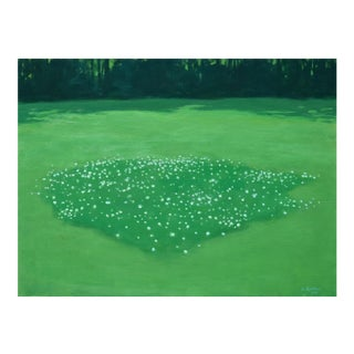 "2010s Contemporary Painting, ""Patch of Clover"" by Stephen Remick"