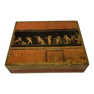 Large Italian Florentine Jewelry Cigar Box For Sale