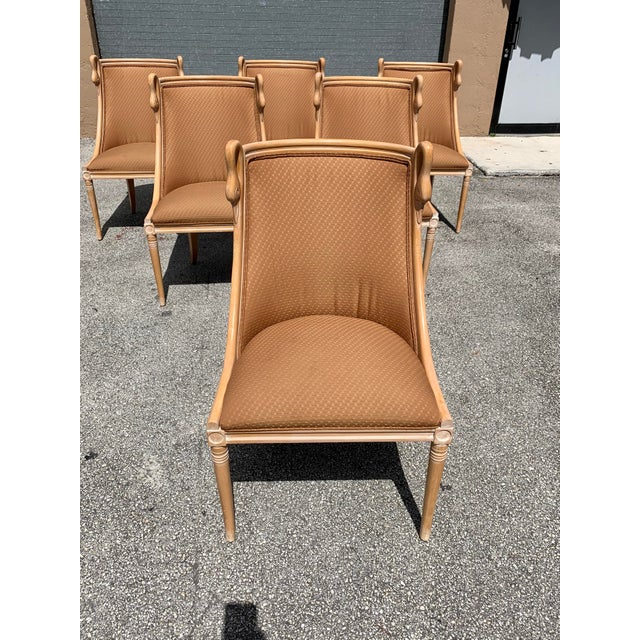 """Brown Mid-Century Modern """"Gondola"""" Swan Neck Dining Chairs - Set of 6 For Sale - Image 8 of 13"""
