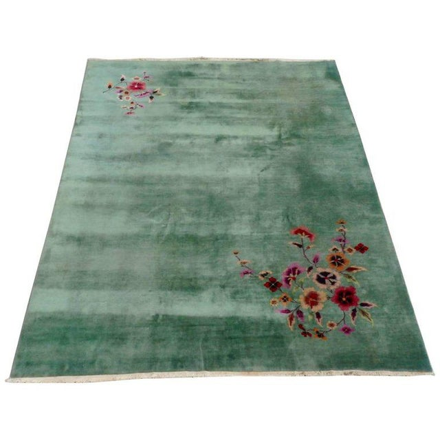 Green Nichols Chinese Deco Art Deco Rug For Sale - Image 8 of 8