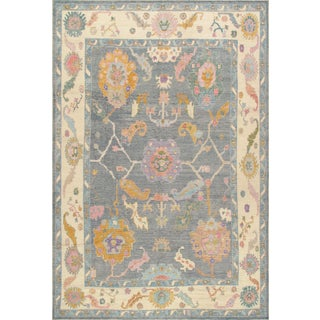 Pasargad Home Turkish Oushak Wool Area Rug -9′11″ × 14′9″ For Sale