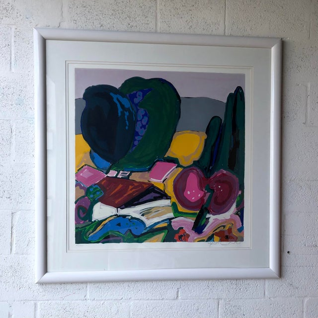 Large Vintage Original Lithograph Numbered and Signed by the Artist. For Sale - Image 10 of 12