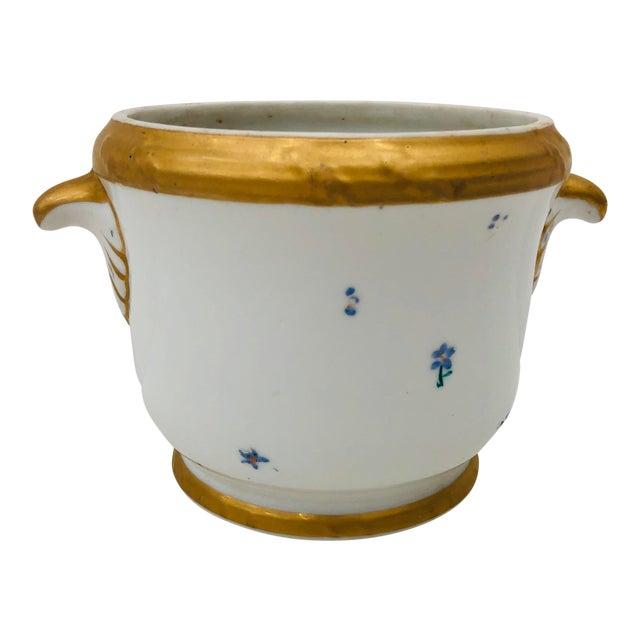 Antique Porcelain Cache Pot For Sale