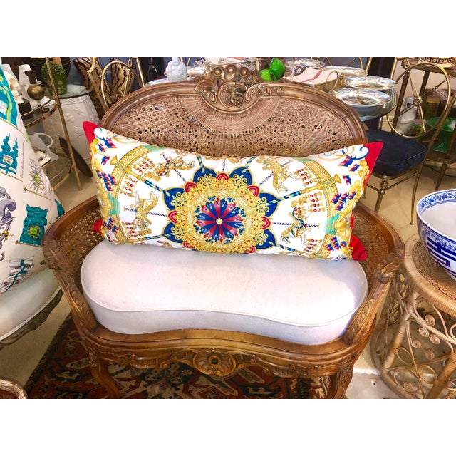 White Antique French C.1870-1880 Louis XVI Style Hand Carved Wood Settee With Double Canning For Sale - Image 8 of 13