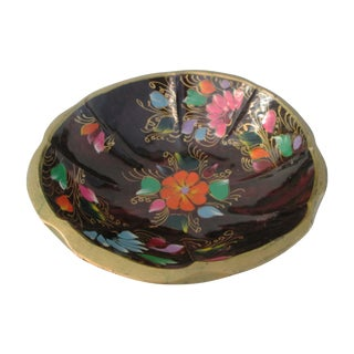 Large Mexican Batea Hand-Painted Wood Bowl For Sale