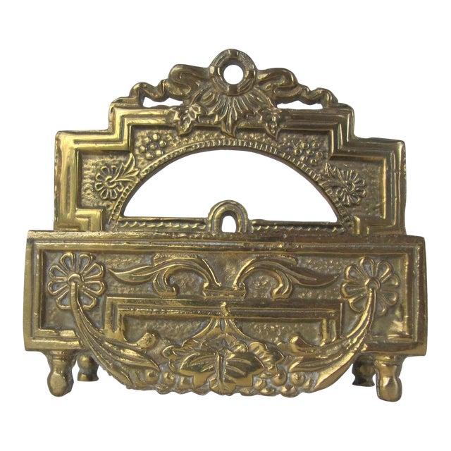 Vintage Brass Business Card Holder For Sale
