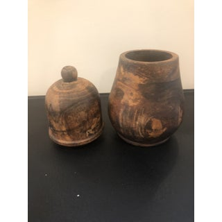 Vintage Burl Wood Vessel Preview