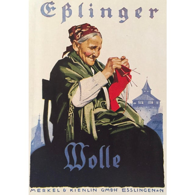 Date: 1927 Size: 4 x 5.75 inches Artist: Ludwig Hohlwein This mini lithographic poster for Eplinger Wool is by Ludwig...