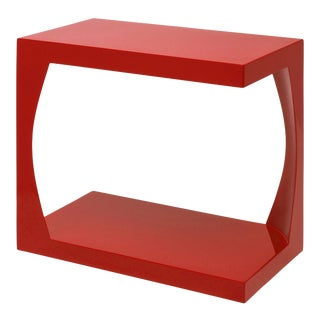 Embankment Side Table in Chinese Red - Veere Grenney for The Lacquer Company For Sale
