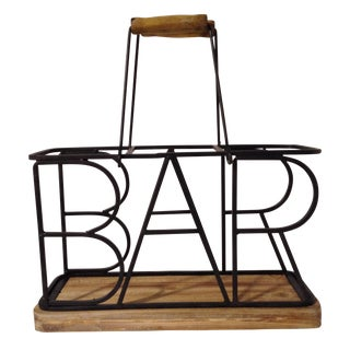 3-Bottle Bar Wine Caddy For Sale