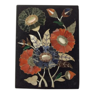 Italian Grand Tour Pietra Dura Mosaic Inlaid Marble For Sale