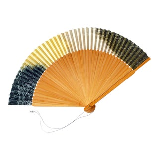 Vintage Japanese Sensu, Paper and Bamboo Folding Fan For Sale