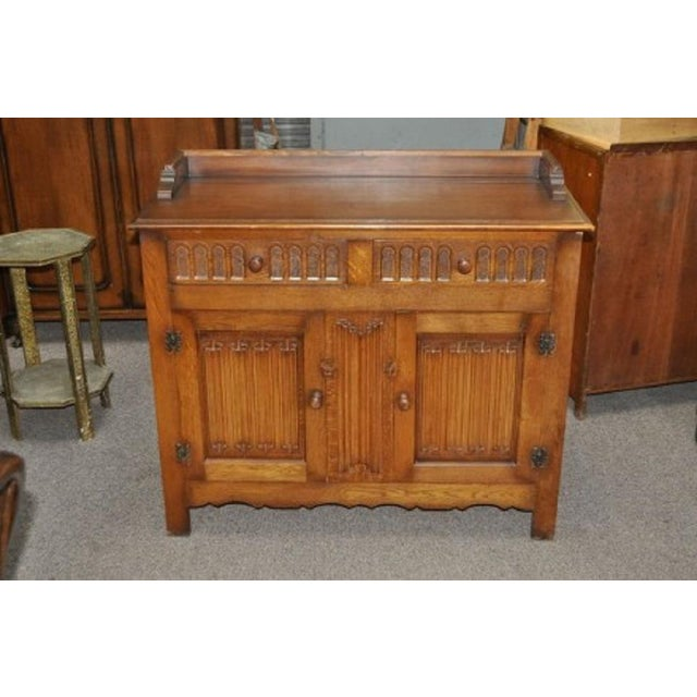 Jacobean Style English Oak Console Cabinet - Image 2 of 4