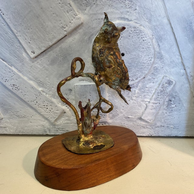 Brutalist 1970s Bill Lett Brutalist Owl Sculpture For Sale - Image 3 of 13