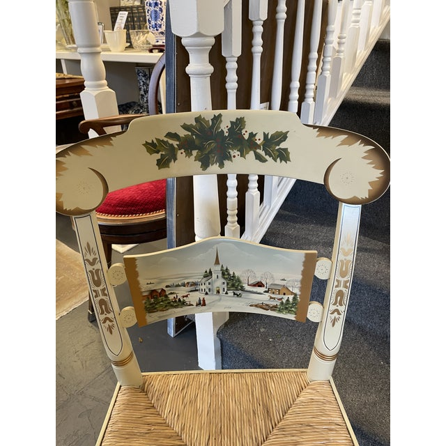 This is a lovely high-quality Hitchcock Christmas Chair. These special edition handmade and handpainted chairs are lovely!...