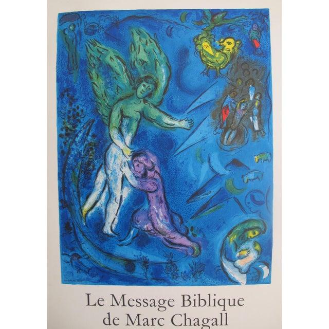 Realism Original 1967 Poster Marc Chagall Le Message Biblique (Blue) For Sale - Image 3 of 5
