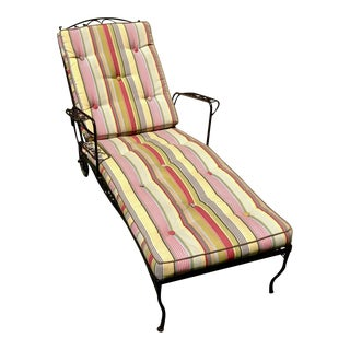 Vintage Woodard Furniture Chaise Lounge For Sale