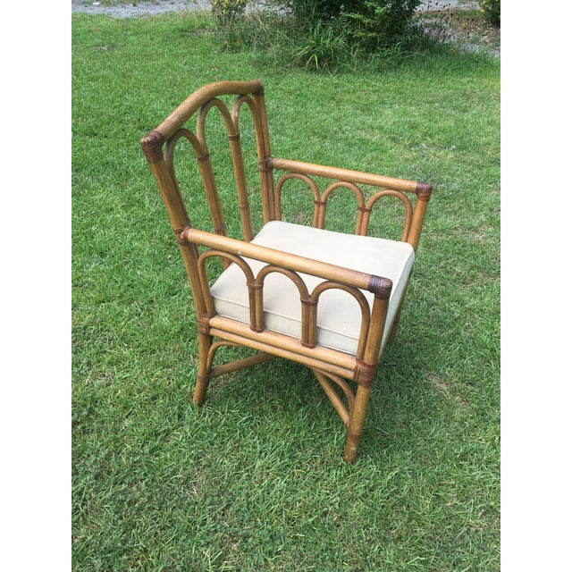 Vintage Shelby Williams Rattan Armchair For Sale - Image 5 of 8