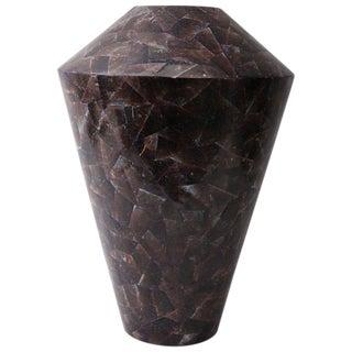 Purple Aubergine Pen Shell Vase For Sale