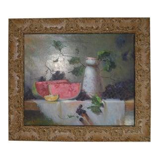 Still Life Original Framed & Signed Oil Painting
