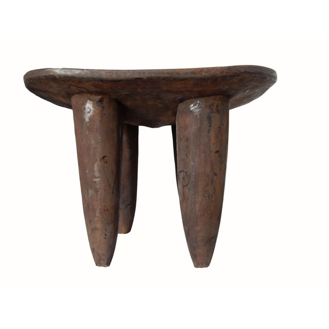 Senufo African Ivory Coast Stool or Table - Image 6 of 7