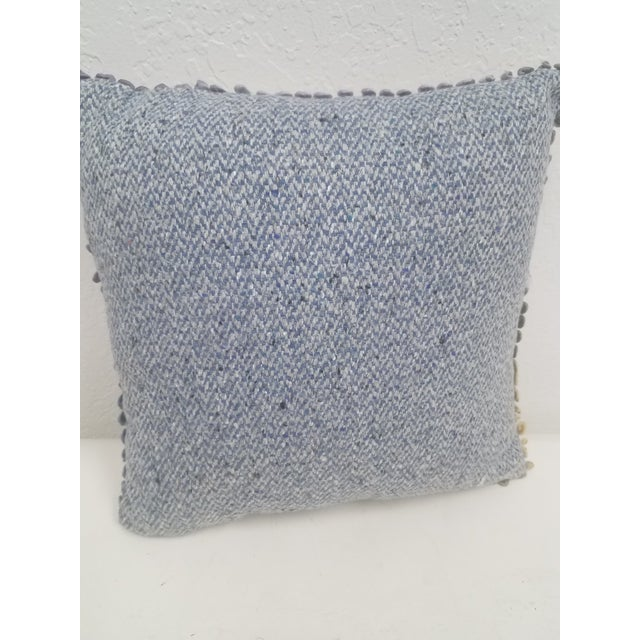 Blue Pug Pillow - Made in Wales, United Kingdom For Sale - Image 8 of 9