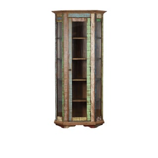 Reclaimed Wood Curio Display Cabinet