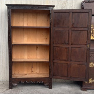18th Century Kitchen Cabinet With One Door, Oak, Castalan Influence, Spain Preview