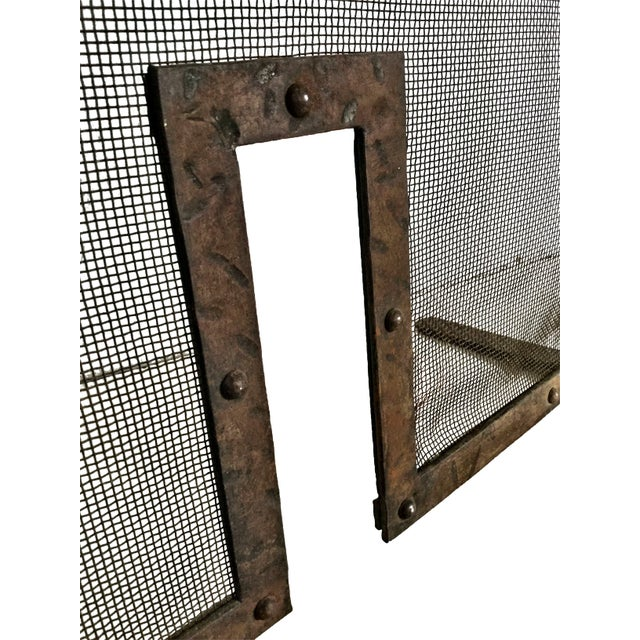Early 19th Century Antique French Fireplace Screen and Andirons - Set of 3 For Sale - Image 12 of 12