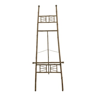 Antique English Bamboo Easel For Sale