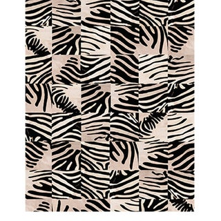 Panel Print Leathers Rug From Covet Paris For Sale